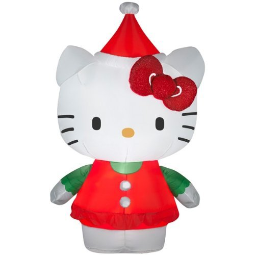 5,5 Hello Kitty Airblown hinchable de Navidad con luces LED de ...