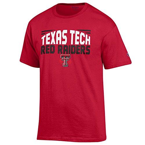 (NCAA Champion Men's Push Ahead Short sleeve T-Shirt Texas Tech Red Raiders Large)