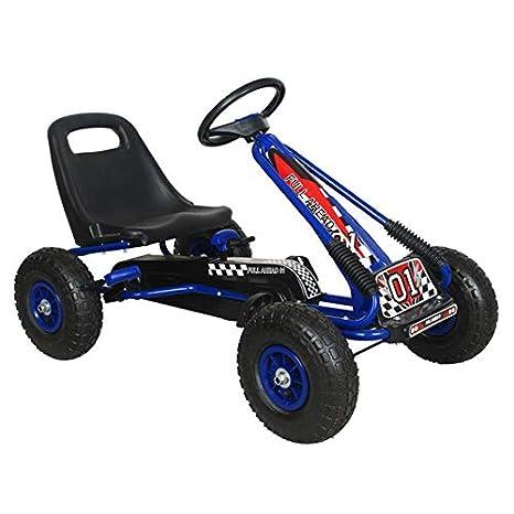 Ricco Kids Go Kart - Palanca de Freno con Pedal de pie para Ruedas de Aire