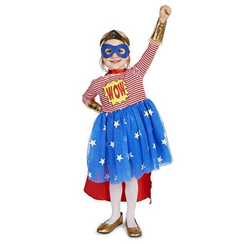 Pop Art Comic Superhero Girl Toddler Dress Up Costume 4T -