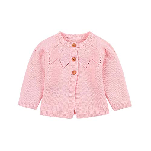 Jchen(TM) Toddler Baby Boy Girl Autumn Winter Long Sleeve Sweaters Warm Cardigan Coat for 0-24 Months (Age: 0-6 Months, Pink)