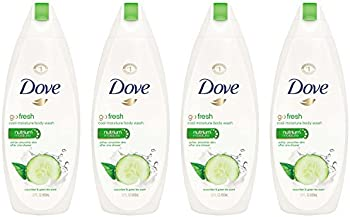4 Pk. Dove Go fresh Body Wash Cucumber and Green Tea 22 oz