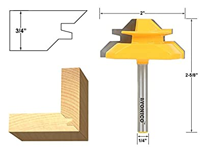 Yonico Lock Miter Router Bit from Yonico