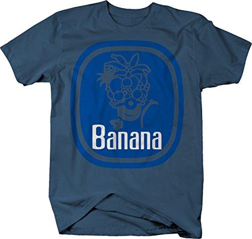 Chiquita Banana Label Funny Tshirt for Men XLarge Denim Blue