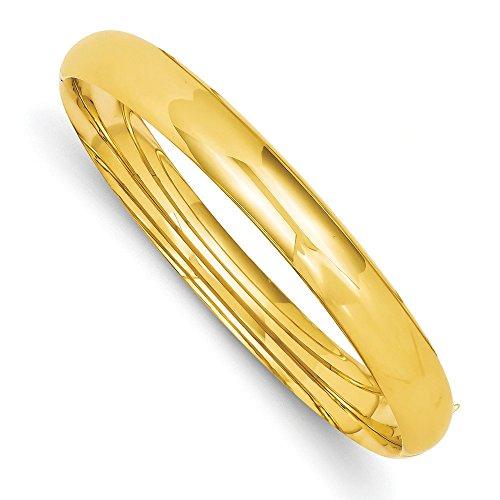 8 mm de large 14 carats JewelryWeb poli Bracelet Bracelet