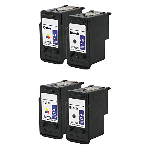 HOTCOLOR Ink Cartridge for Canon PG240 PG-240 CL241 CL-24...