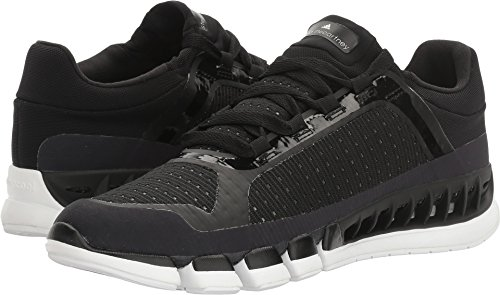 adidas by Stella McCartney Women's Clima Cool Sneakers, Black & White/Solid Grey, 10 B(M) US