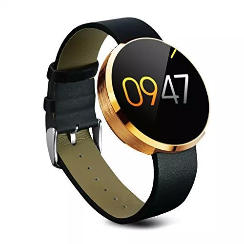 Smart Watch , OAOVR Touch Screen Bluetooth WristWatch with Camera/SIM Card Slot/Pedometer Analysis/Sleep Monitoring for Android and IOS (Gold)
