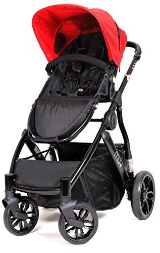 Muv Baby Trend Reis Stroller, Satin Black/Cabernet