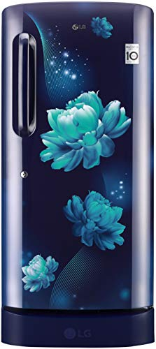 LG 215 L 4 Star Inverter Direct-Cool Single Door Refrigerator (GL-D221ABCY, Blue Charm, Base Stand with Drawer)