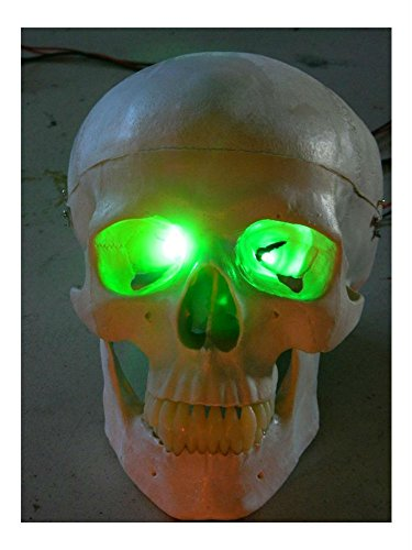 HALLOWEEN PROP GREEN LED EYES FOR MASK OR SKULL