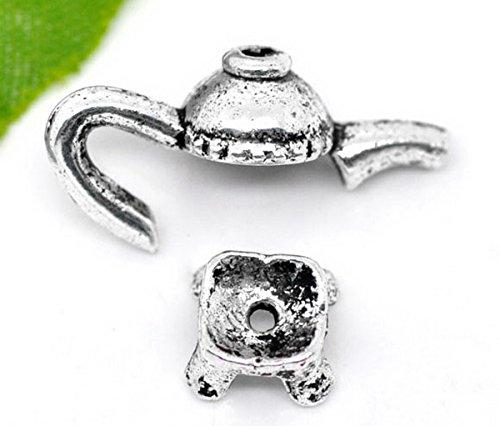 Housweety Bijoux Accessoires 10 sets Perles Coupelle Thei¨¨re21x11mm(pr 8-10mm perle)