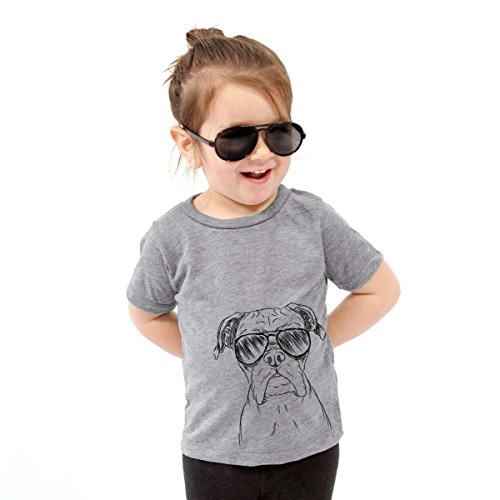 Boxer California Girl - Inkopious Axel The Boxer Dog Toddler Unisex Boy Girl Kids Crewneck 3T Grey