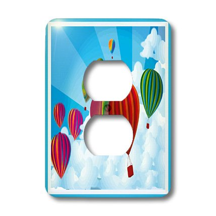 3dRose lsp_12921_6 Hot Air Balloons 2 Plug Outlet Cover