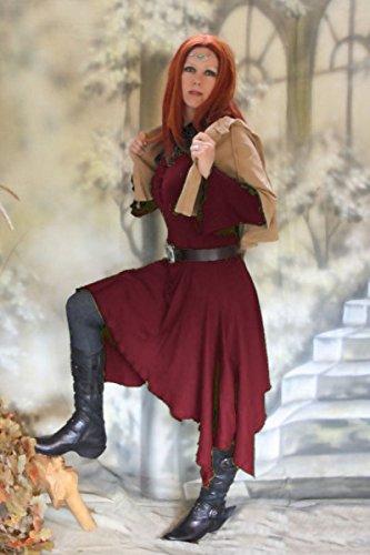 Wicca Pagan Alkmeene Dark bordeaux S Größe Dreams Hexe M Kleid Farbe wTwCaq