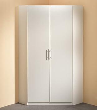 eckkleiderschrank wei 95x95 bestseller shop f r m bel und einrichtungen. Black Bedroom Furniture Sets. Home Design Ideas