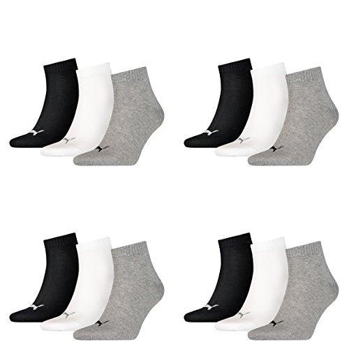 Sneaker 12 Grey Pair Quarter Ladies Unisex Puma 882 Socks amp; black white Mens vwwpdrqExf