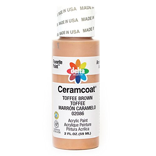 Delta Creative Ceramcoat Acrylic Paint in Assorted Colors (2 oz), 2086, Toffee Brown