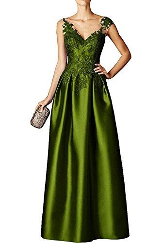 Partykleider Damen mit Jugendweihe Kleid Braut Abendkleider Gruen Ballkleider Marie Olive La Applikation Satin Spitze EvA0Aqa