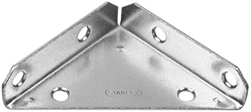 Stanley Hardware S755-560 CD992 Triangle Corner Brace in Zinc plated, 2 pack