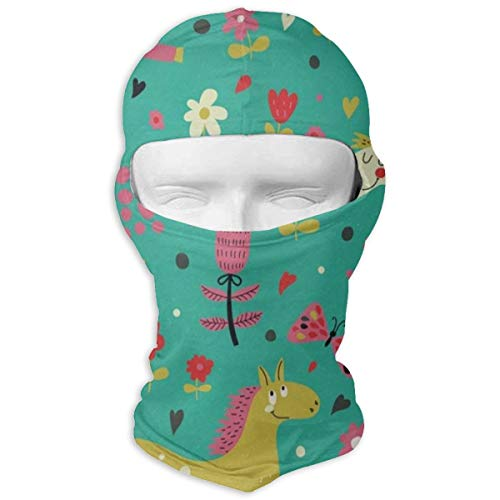 Balaclava Cute Cartoon Horse Flower Full Face Masks for sale  Delivered anywhere in Canada