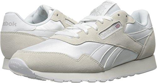 Reebok Men's Royal Nylon Walking Shoe, White/Steel, 11 M US