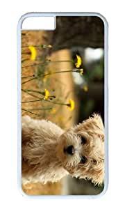 MOKSHOP Adorable Cute Maltese Dog Hard Case Protective Shell Cell Phone Cover For Apple Iphone 6 Plus (5.5 Inch) - PC White