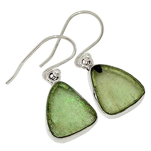 Xtremegems Ancient Roman Glass 925 Sterling Silver Earrings Jewelry 1 1/8