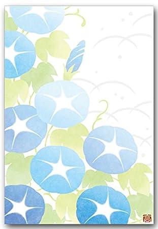 Amazon 夏のイラストポストカード 朝顔 和柄絵葉書 暑中見舞い