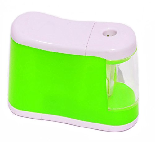 Battery Operated Desktop Pencil Sharpener, Green - Electric Pencil Sharpener Desktop
