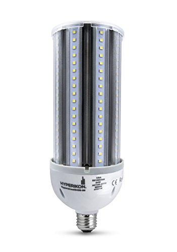 HyperSelect 54W LED Corn Light Bulb, Street and Area Light, 300 Watt Equivalent, Metal Halide Replacement, 6200 lumen, E26 Medium Screw Base, 5000K (Crystal White Glow), 360° Flood Light, UL Listed