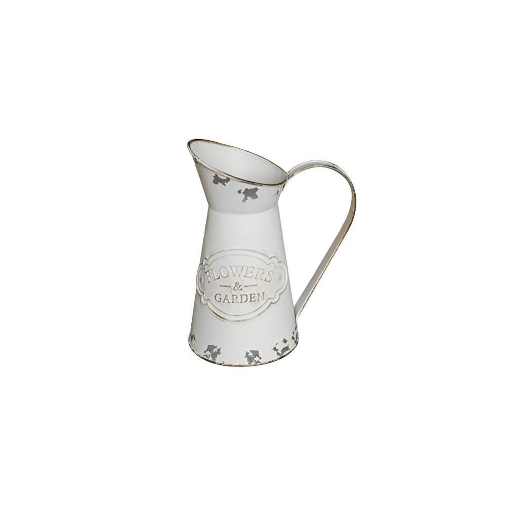 MISIXILE Rustic Shabby Chic Vase Small Metal Jug Vase Farmhouse Pitcher Flower Vase Holder