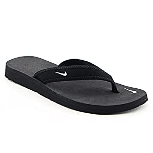 Nike Womens Celso Thong Flip Flops Open Toe Shoes (10, Black)
