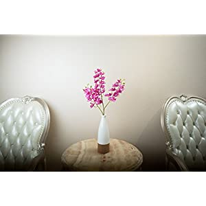 "YSZL 5pcs 30"" Tall Artificial Silk Phalaenopsis Orchid Flower Stem Arrangements 3"
