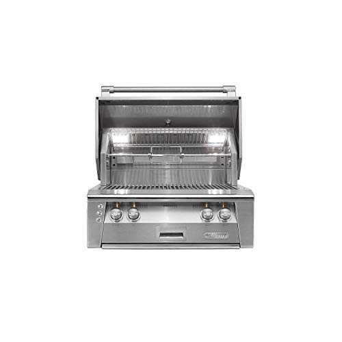 Alfresco Gas Grill - Alfresco ALXE-30SZ-LPZNG 30' Sear Zone Grill Natural Gas Built with 77000 BTUH and Integrated Rotisserie System with Built-In Motor in Stainless