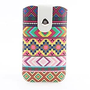 YULIN Aztec Tribal Pattern Pouch Bag Case with Metal Buckle and Belt Clip for iPhone 6 Plus