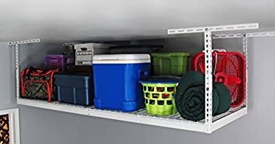"SafeRacks - 3x8 Overhead Garage Storage Rack (24""-45"")"