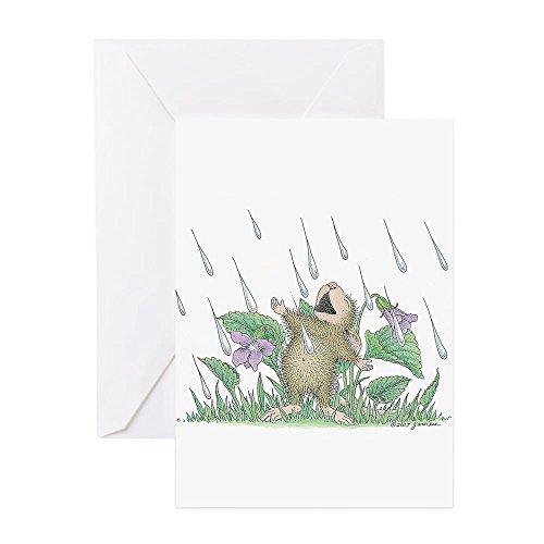 CafePress Singing In The Rain Greeting Card, Note Card, Birthday Card, Blank Inside Glossy
