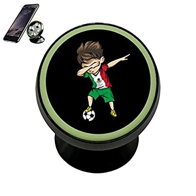 PFTGOD Magnetic Dabbing Soccer Boy Mexico Jersey phone holder Luminous universal 360 Rotation Black