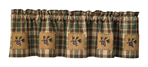Valance Pinecone (Scotch Pine Pinecone Curtain Valance 60