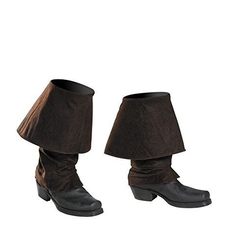 Disguise Pirate Boot Covers Costume Accessory,Brown,One-Size -