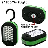 27 LED Super Bright – Deluxe Glow Work/Utility Light – Magnetic w/Hook(Green)