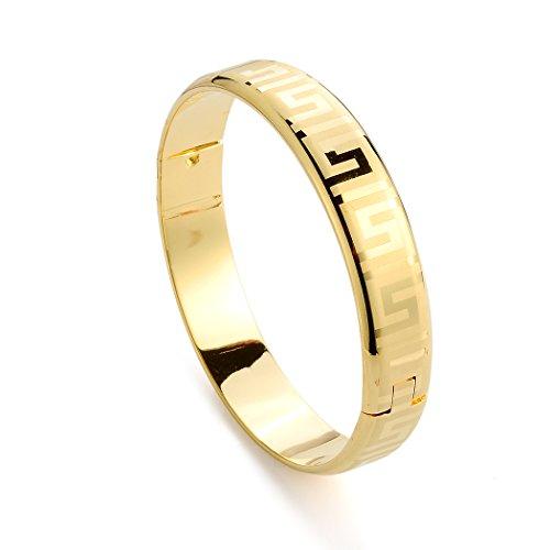 loyoe jewelry 24k Yellow Gold Filled Openable Womens Bangle Bracelet (Gold Filled Costume)