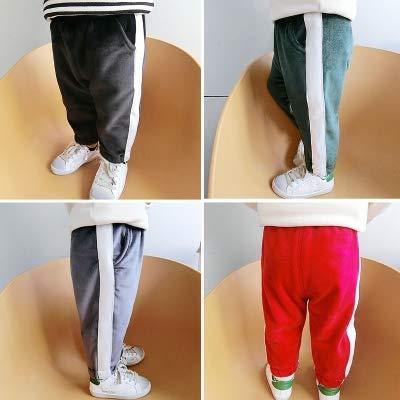 赤ちゃん 冬服 パンツ 男児 裏起毛 手厚い カジュアルなズボン 女児 単一色 ズボン グレー/130cm  B07N2ZLT65