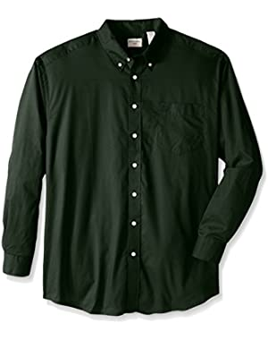 Men's Big-Tall Solid No Wrinkle Signature Button Down Collar Shirt