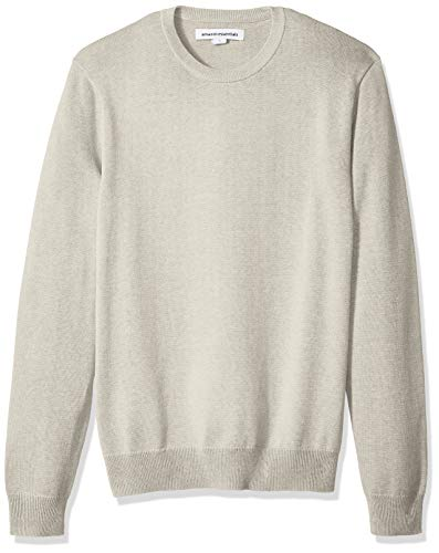 - Amazon Essentials Men's Crewneck Sweater, Oatmeal Heather, Large