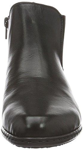Rieker Y0794, Stivali Chelsea Donna, Nero (Nero/Rauch / 01), 38 EU