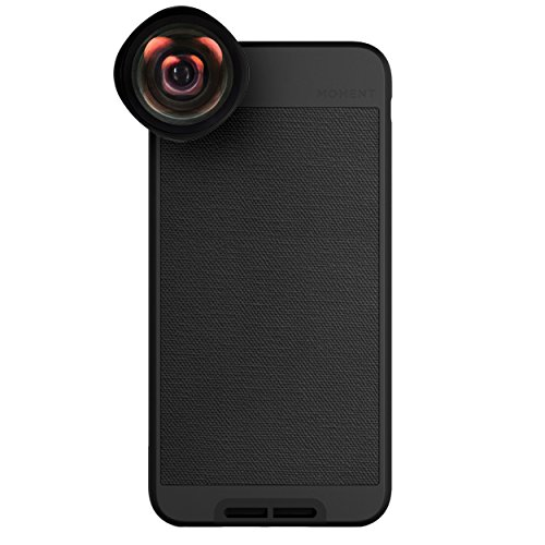 iPhone 6 Plus Case with Wide Lens Kit || Moment Black Canvas Photo Case plus Wide Lens || Best iphone wide attachment lens with thin protective case. by Moment