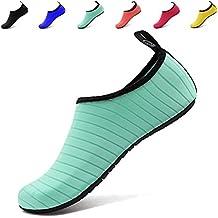 ANLUKE Water Sports Barefoot Shoes Quick-Dry Aqua Yoga Socks Slip-On For Men Women Kids F