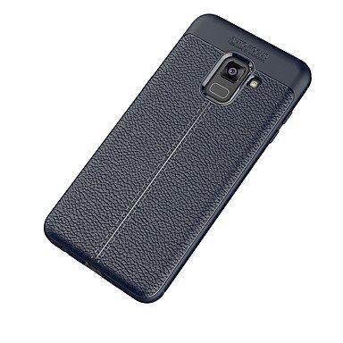 Casos hermosos, cubiertas, Funda Para Samsung A8 2018 A8 Plus 2018 Congelada Funda Trasera Color sólido Suave TPU para A5(2018) A7(2018) A3 (2017) A5 (2017) A7 ( Color : Azul Oscuro , Modelos Compatib Azul Oscuro